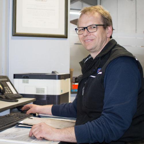 Werkstattmeister Stefan Holst